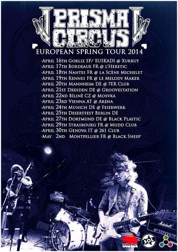 gira europea Prisma Circus