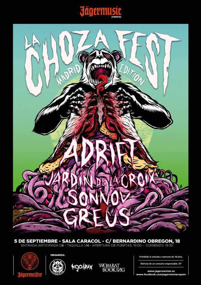 Cartel La Choza Fest Madrid