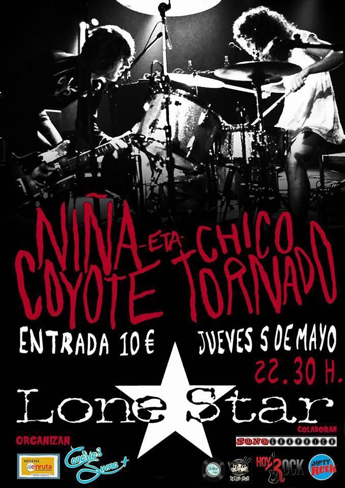 Niña Coyote eta Chico Tornado Cartel Tenerife