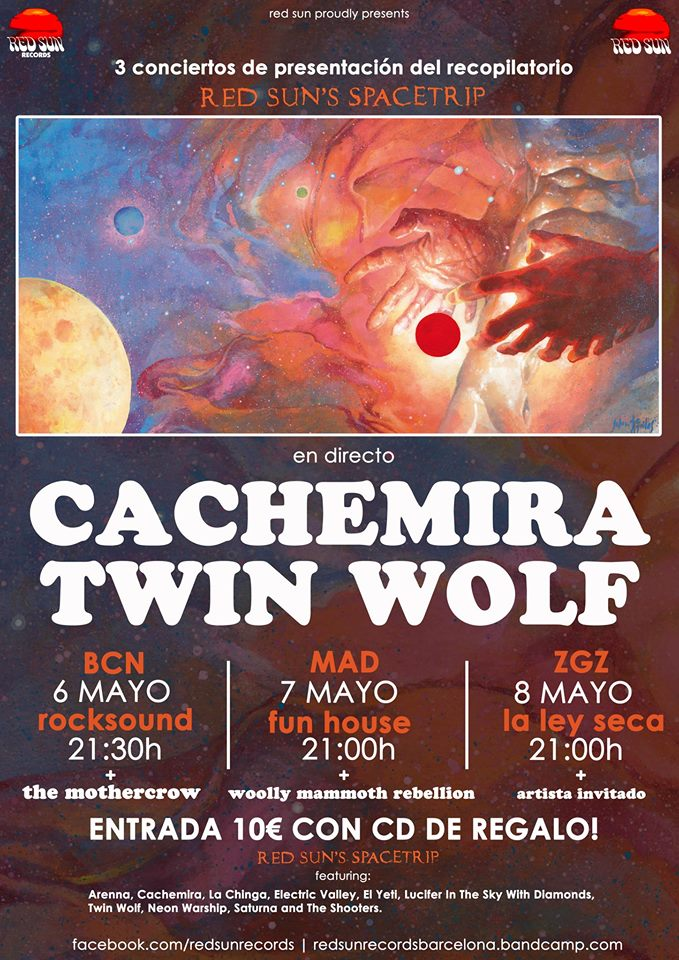 Cartel Red Sun Records Cachemira, Twin Wolf, The Mothercrow