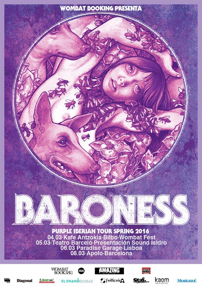 Cartel Baroness Purple Iberian Tour