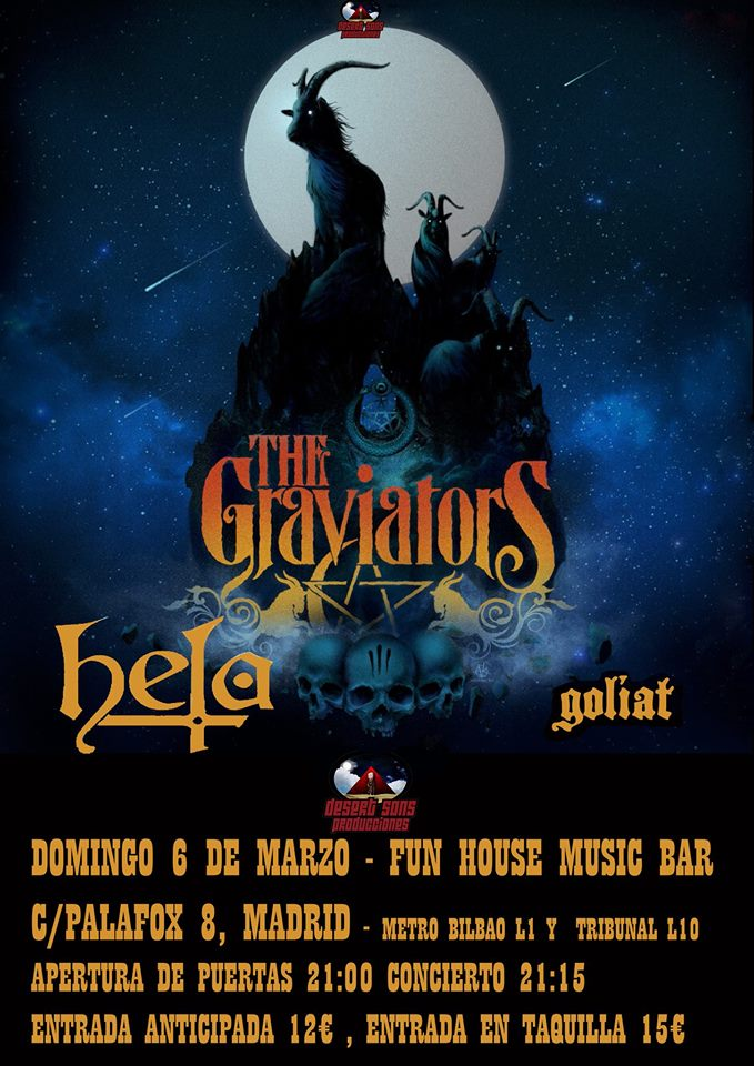 Cartel The Graviators + Hela + Goliat