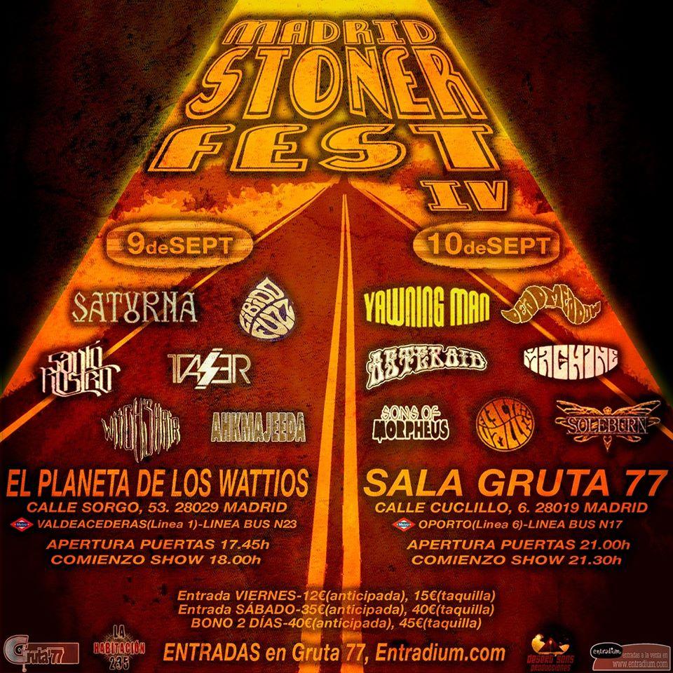 Cartel Madrid Stoner Festival 2016