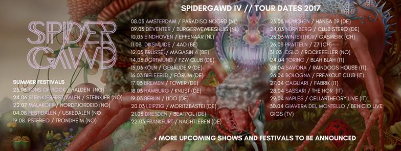 spidergawd-tour-2017