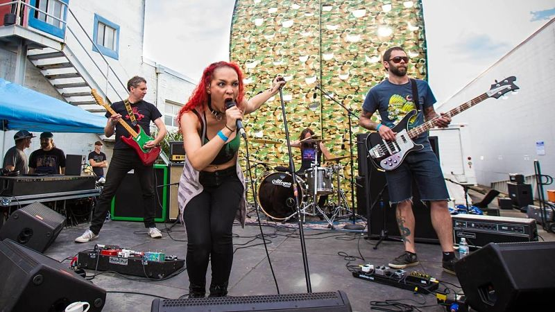 """It's like we won the lottery twice in a row,"" drummer Nate Carson says of Witch Mountain's new vocalist, Kayla Dixon."